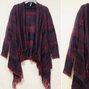 Love by Design Red/Maroon & Blue Cardigan/Shawl
